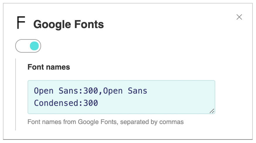 Google Fonts - Help - PlayerJS - Video & audio players builder
